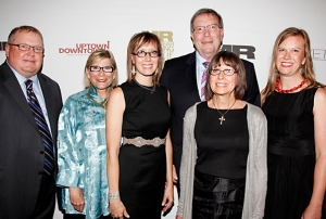 The Foursome entourage in New York. Scott Winterbottom, Pat Wright, Beth Engel, Gordy Engel, Nancy Engel, Nicole Chose
