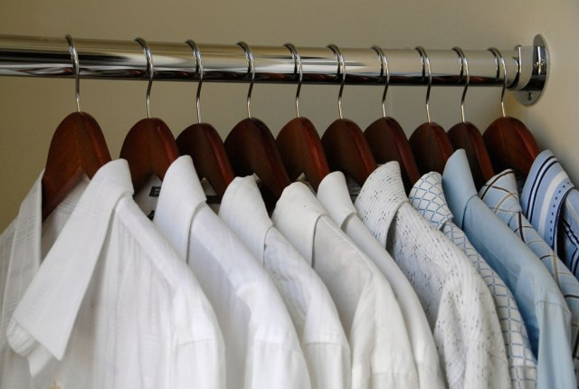 Image result for white shirt on hanger mens