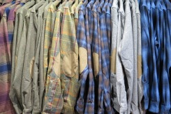 Vintage, timeless Pendleton wool shirts with elbow patches.
